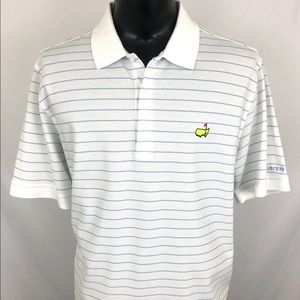 Masters Collection Polo Golf Shirt White Blue XL